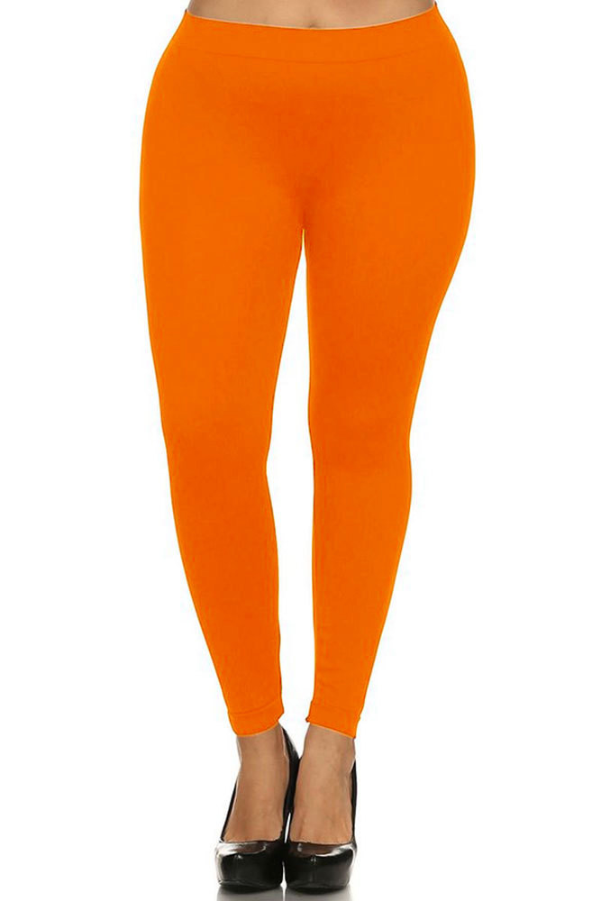 a298d905b64 Full Length Neon Seamless Leggings - Plus Size