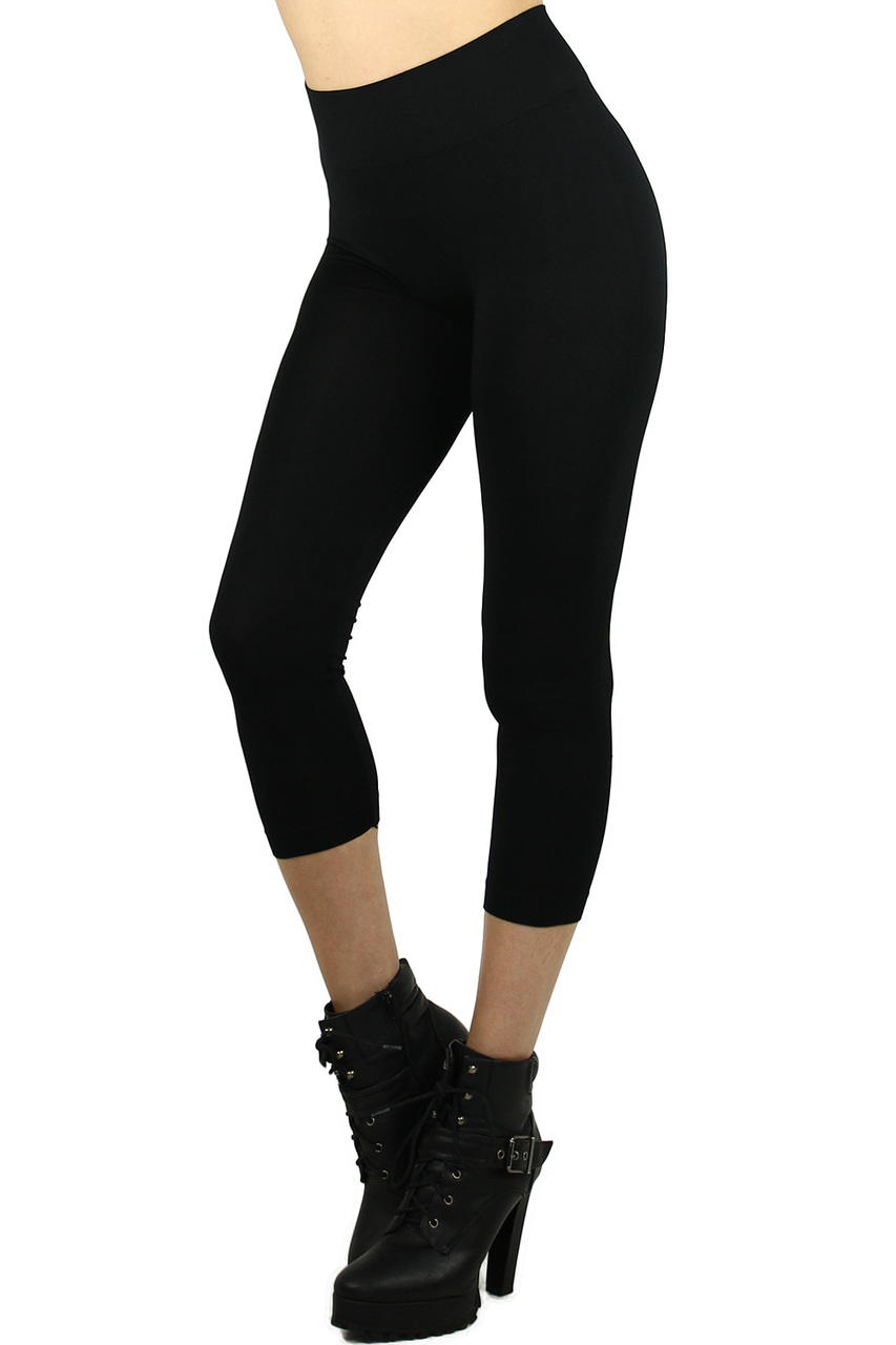 a90f1afc7fb94 Basic Spandex Capri Leggings | World of Leggings