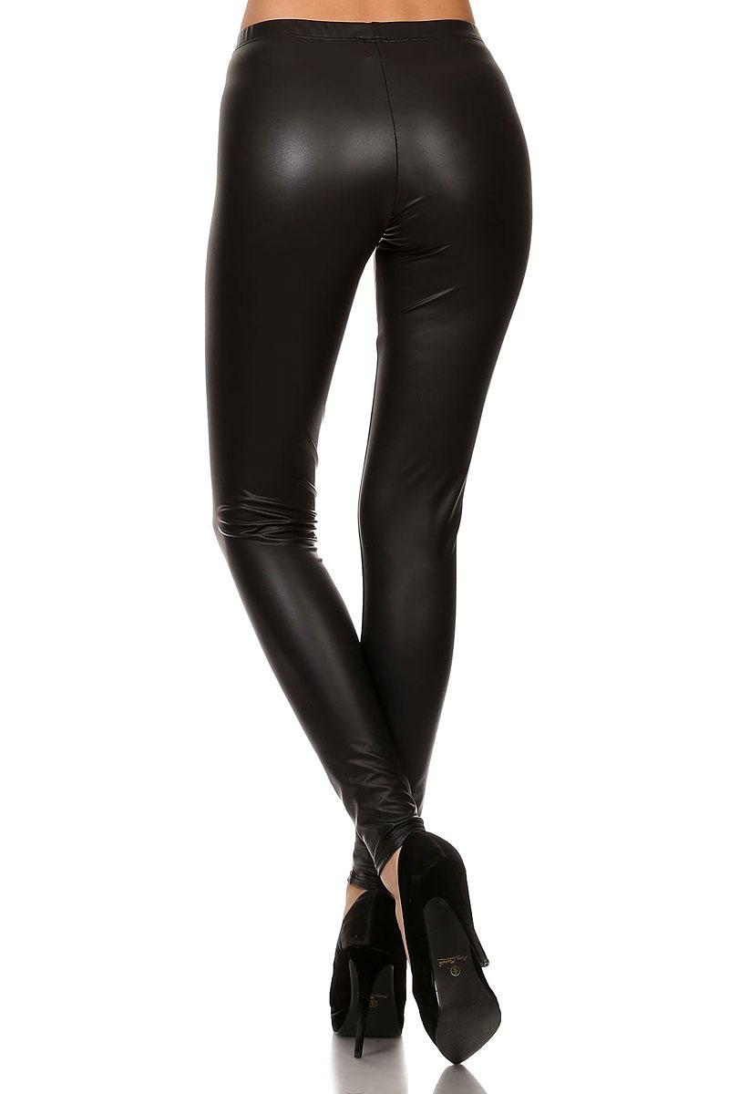 53cb776b177 Matte Faux Leather Plus Size Leggings