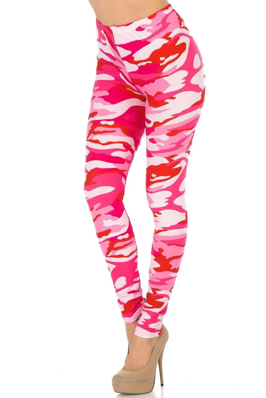 4ebaef599d0e3 Buttery Soft Pink Camouflage Leggings | World of Leggings
