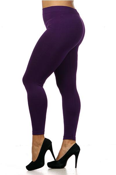 d2c72951569 Plus Size Full Length Seamless Leggings