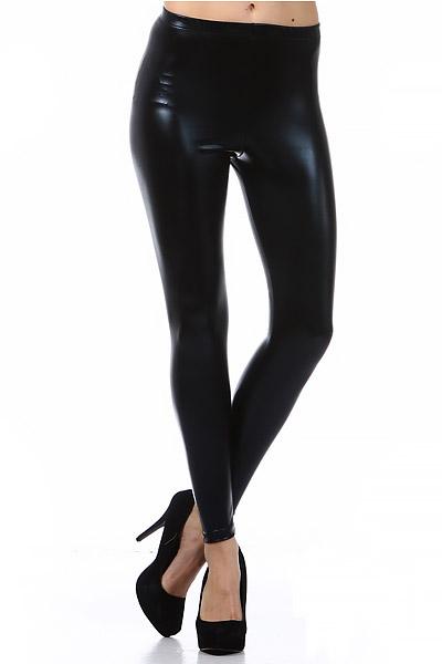 6f374063e3364 Shiny Faux Leather Leggings | Word of Leggings