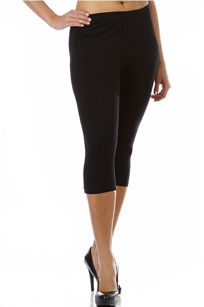 71da2174ccf282 USA Cotton Capri Length Leggings Plus Size - World of Leggings