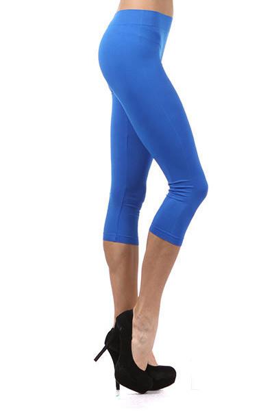 e31d2d9f878e59 Basic Capri Length Spandex Leggings | World of Leggings
