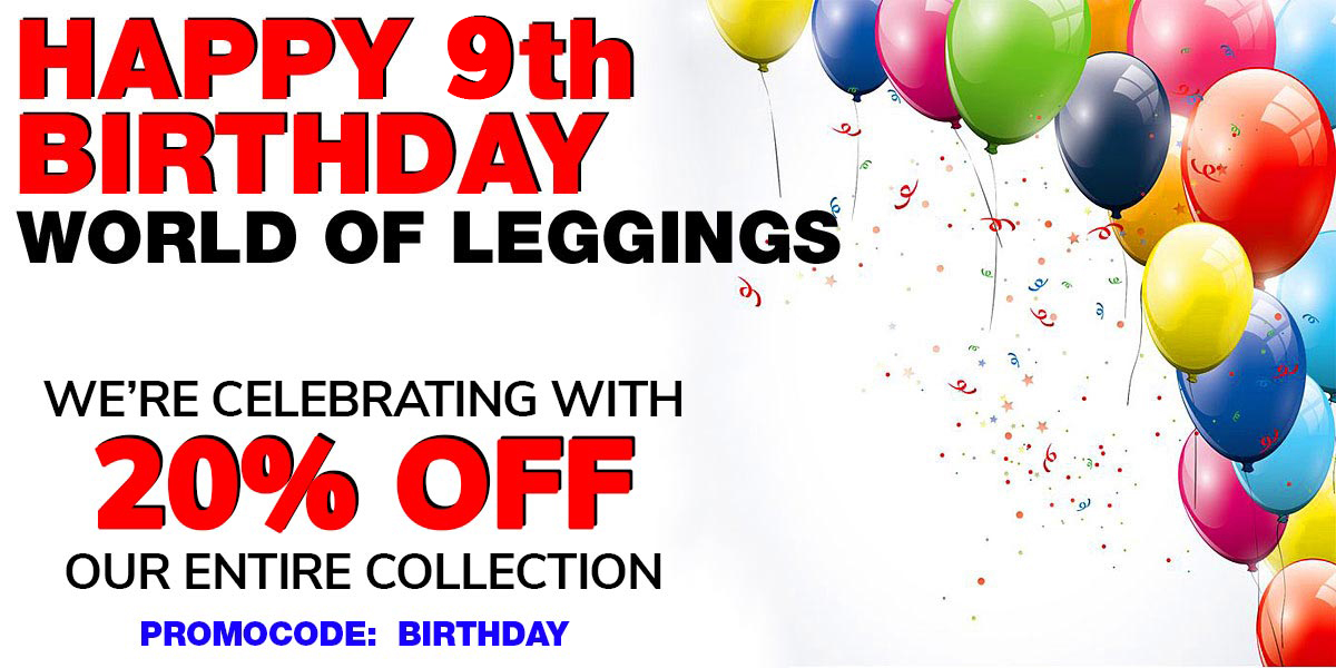 Happy 9th Birthday Leggings Sale