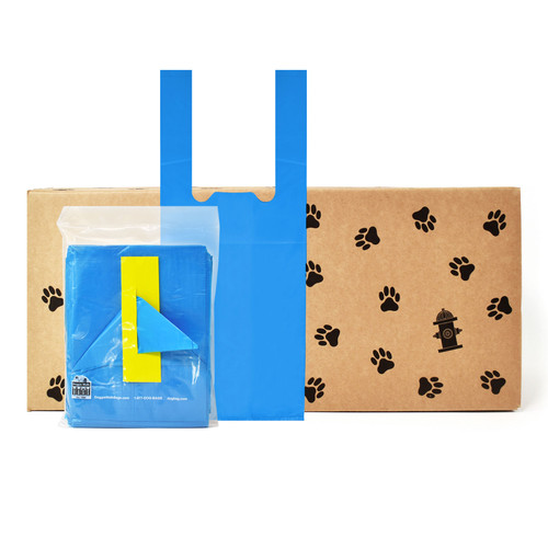 4270 tie handle waste bags , 61 pouches