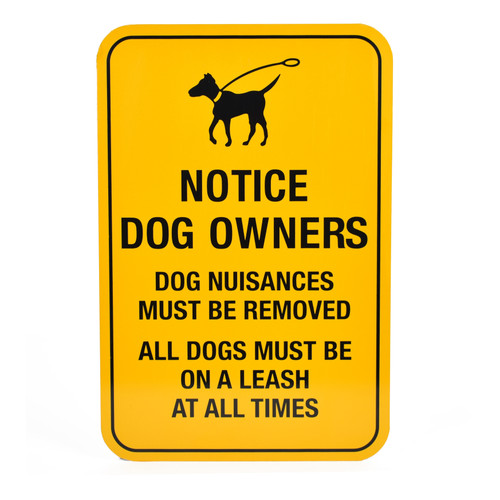 Sign for Dog Waste Bag Dispenser