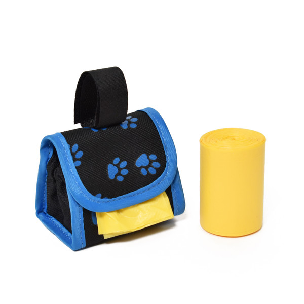 Blue Paw Pouch Waste Bag Holder
