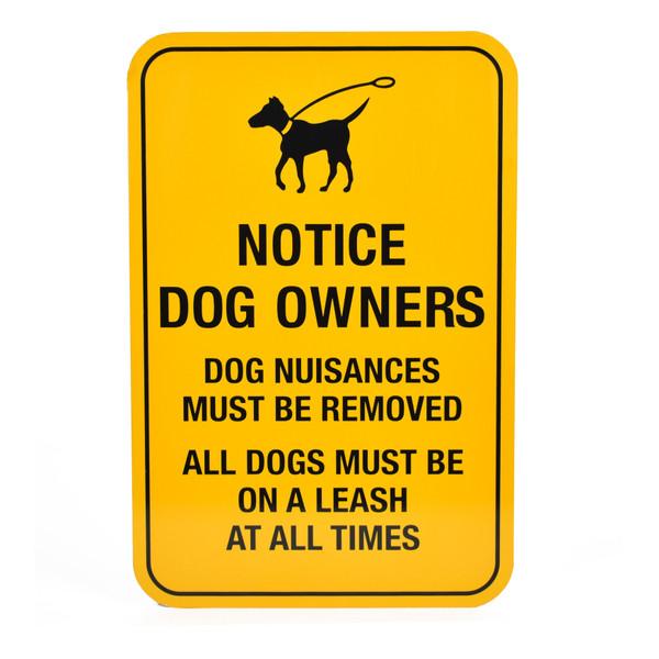 Sign for Dog Waste Bag Dispenser