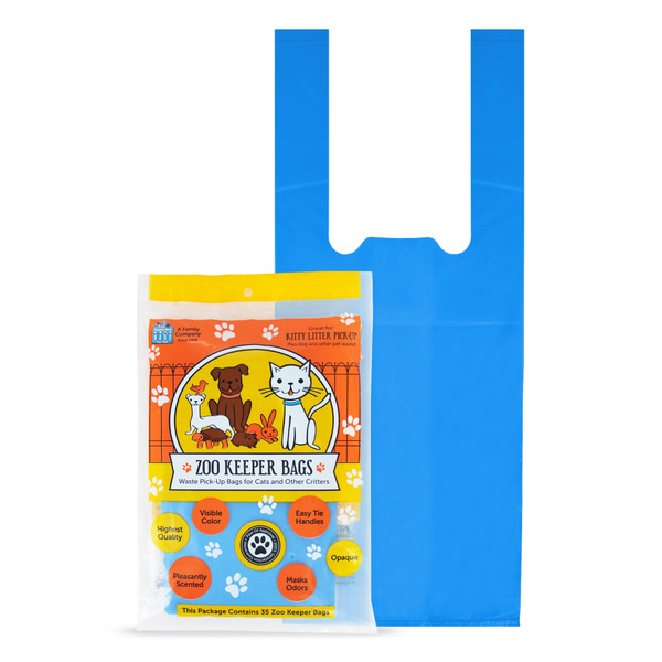 35 Pet waste bags with tie handles