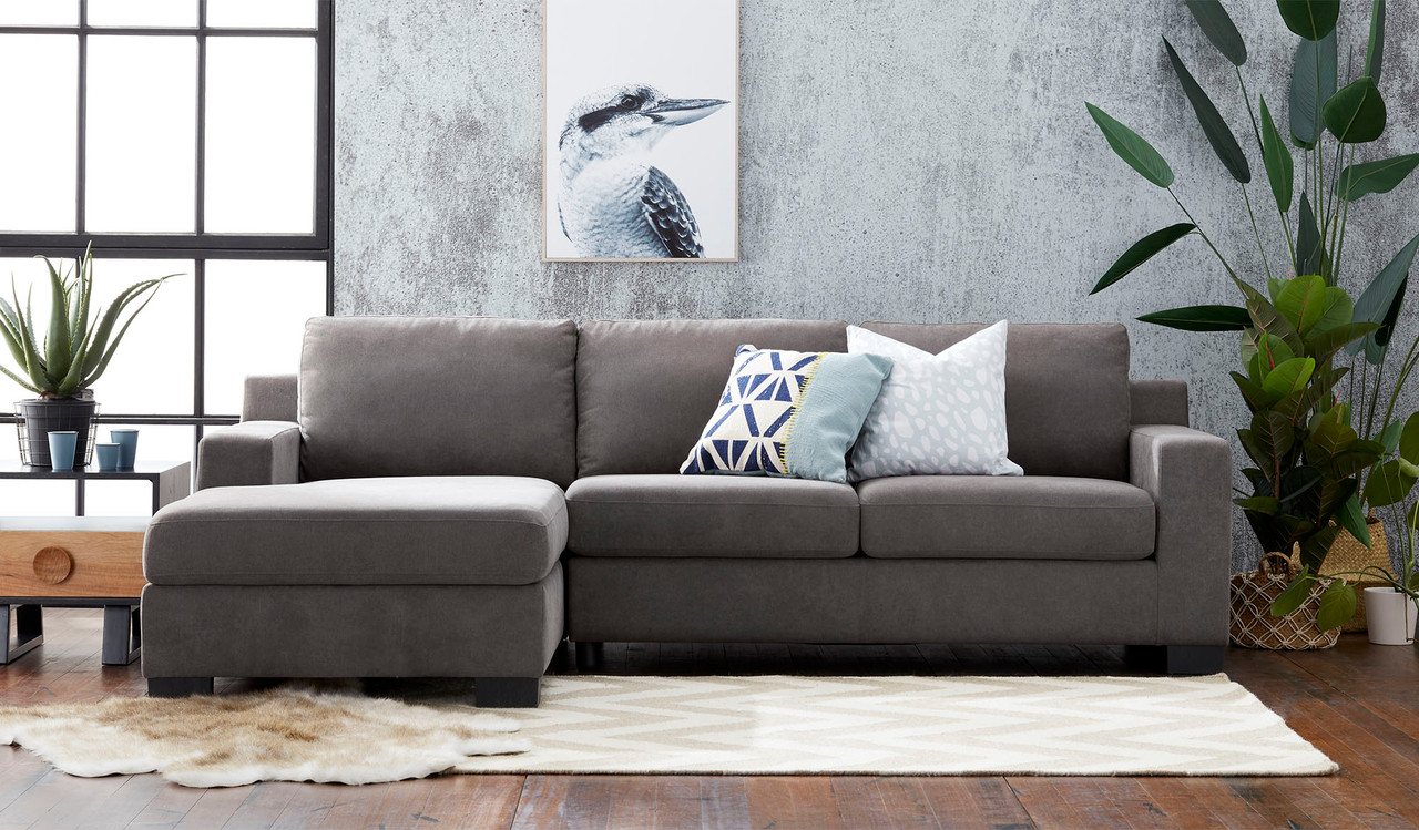 Picture of: Austin 2 5 Seat Chaise Sofa With Storage Sofa Bed Bedsonline