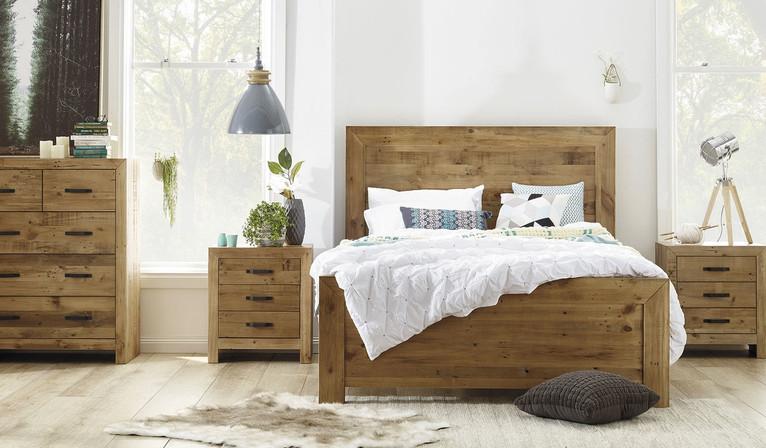 Rustic 4 piece tallboy bedroom suite