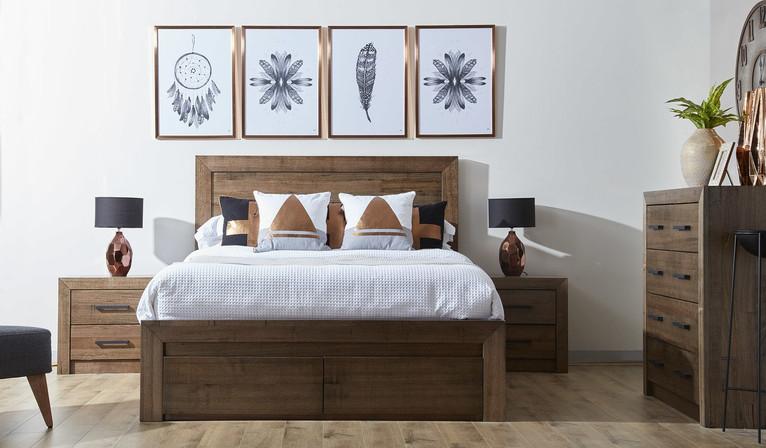 Merlin 4 pce tallboy bedroom suite