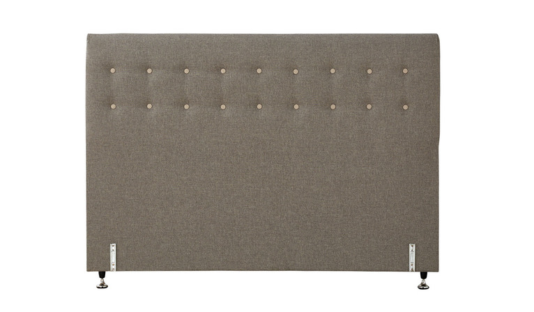 Tarlee bed head buttoned - Taupe