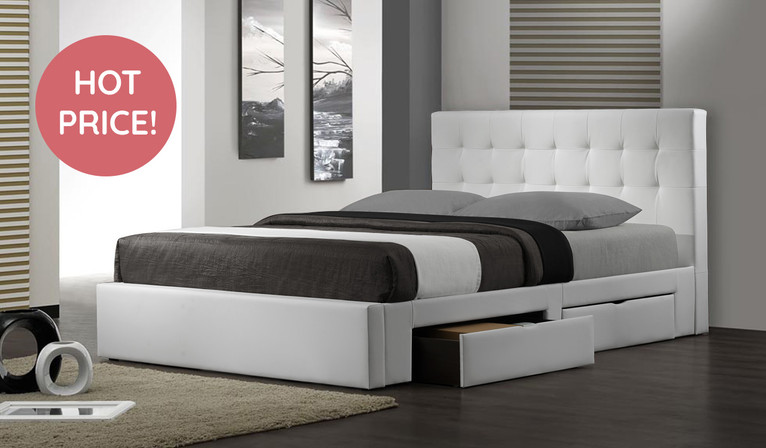 Barbados Double bed - White
