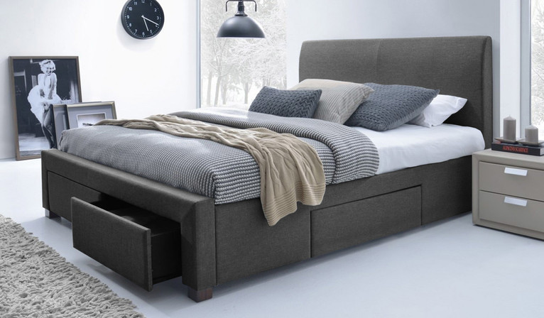 Jersey bed - dark grey