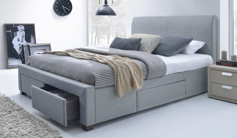 Jersey bed - light grey