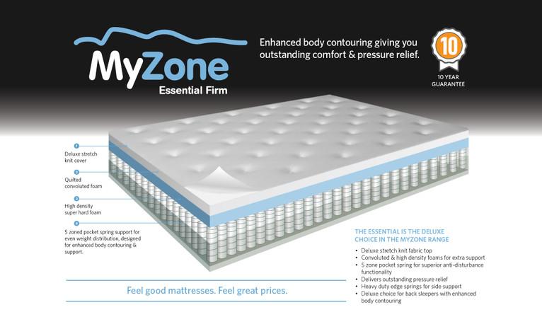 half off 47a40 23f3b MyZone Essential firm mattress