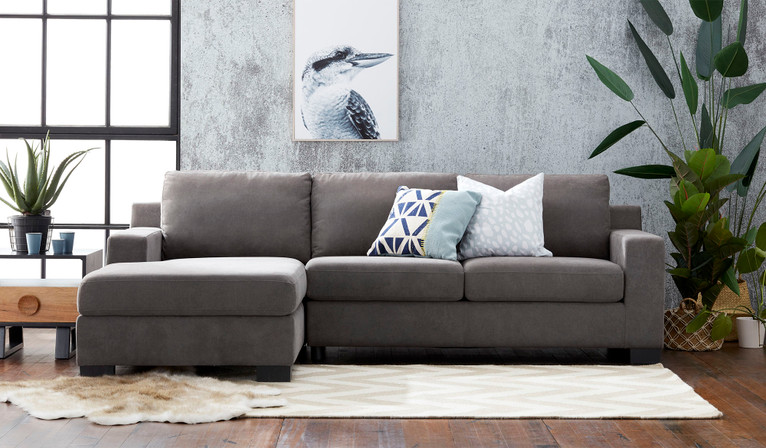 Austin 2.5 seat chaise sofa with storage + sofa bed