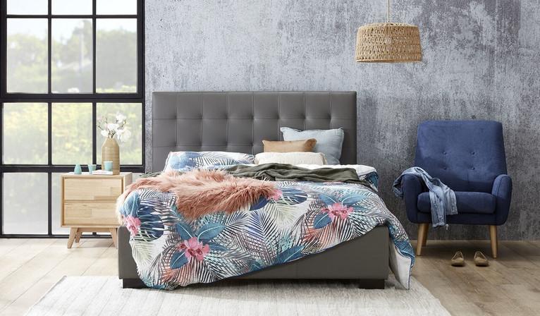 Raveena leather bed
