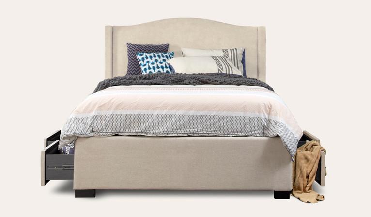 Violet 4 drawer upholstered bed