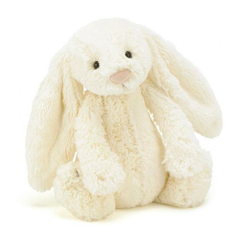 jellycat Bashful Cream Bunny's gorgeous long ears look like two big dollops of clotted cream. Mmmm! Time for scones and a hippity-hop on the grass! With a bunny pal as soft as butter icing, summer days are so inviting!