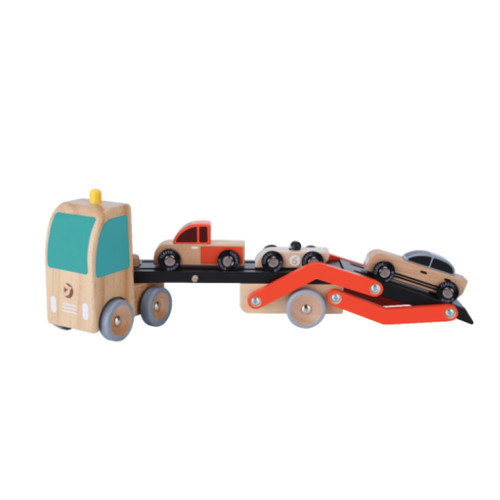 Let your child have hours of fun with this classic world double decker car carrier