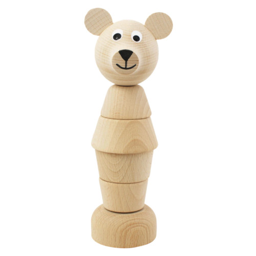 These wonderful wooden stacking toys help children practice and develop their hand-eye co-ordination and fine motor skills and they'll have hours of fun learning how to take them apart and put them back together