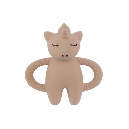 unicorn teether by Konges Slojd A handmade unicorn teether made from 100% natural Hevea rubber to soothe your babies sore gums.