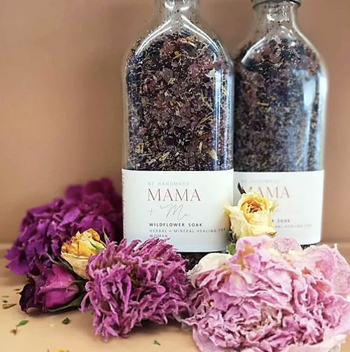 Wildflowerbath soak isa luxurytreatment that is enriched with an abundance of natural healing and restoring properties. the soak is made in small artisan batches using only high quality pure therapeutic grade essential oils which have been diluted to be gentle for pregnancy from second trimester onwards