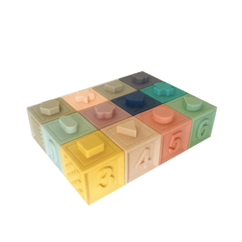 Building Blocks made from 100% food safe silicone are a must-have for your little one. Stack them, squeeze them and develop those fine motor skills. Play and Learn; each block has numbers, animals, fruit and shapes. Use them as stamps in playdough...so many options for different ages.