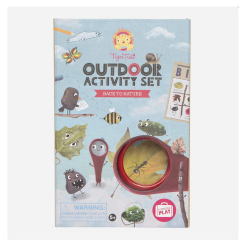 Tiger Tribe Outdoor activity set - Back to Nature is a gentle, activity-based introduction to mindfulness designed to get children off the couch, unplugged and outside exploring nature.