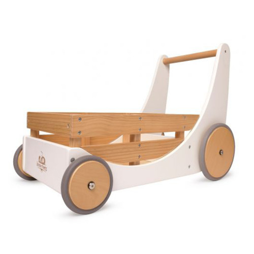 Kids have have a blast putting their toys inside and taking them for a stroll. Whether indoors or outdoors, the Kinderfeets Cargo Walker is the perfect way to introduce little ones to walking. Before you know it, they'll be running!
