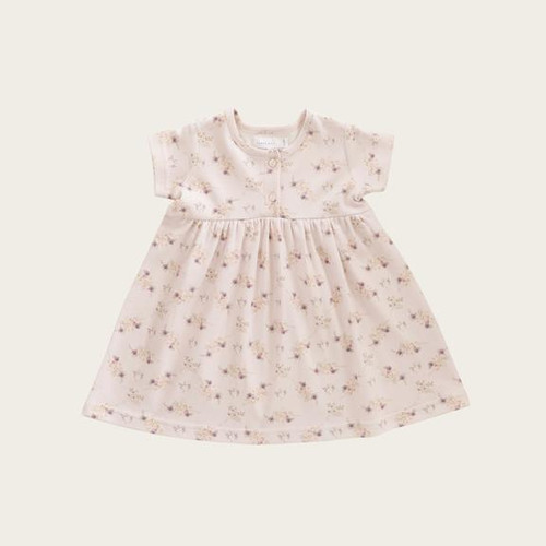 Jamie Kay Dress - Sweet pea floral / This piece is made from the finest quality of Organic Cotton to ensure nothing but the best for your Child.Cotton is well known for its ability to breathe.