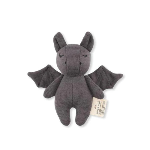 Konges Slojd - Adorable rattle mini bat, made of 100% organic cotton. The toy in the middle has a bell, it improves motor skills of the child.