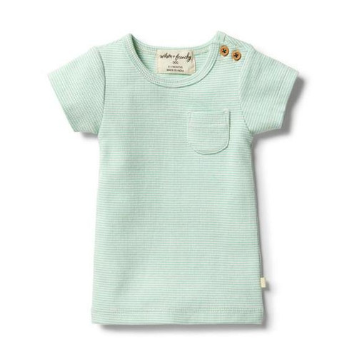 Wilson & frenchy tee - Designed for comfort, this snug fitting 2x2 stretch rib short sleeve tee features a front pocket and is made with GOTS certified organic cotton.