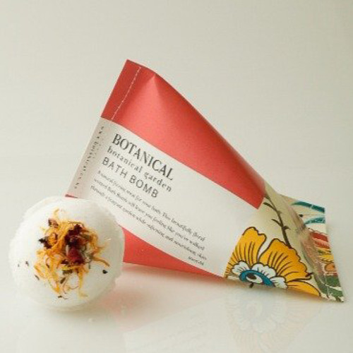 A natural fizzing fun treat for your bath. Our beautifully scented Botanical GardenBath Bombwill leave your skin and mind feeling refreshed, calm and soft.