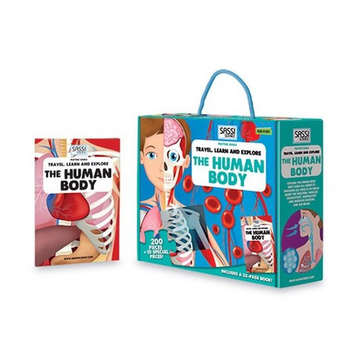 Sassi - Take a fascinating tour of the human body! Put together the detailed puzzle and read the book to learn all about the life cycle and the human body!