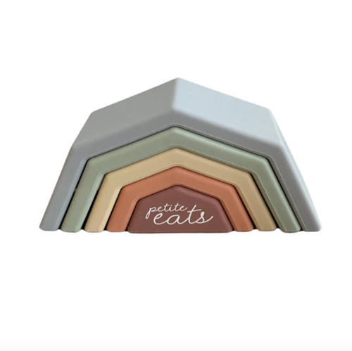 Arch & Bear has the go-to range of quality Baby & Children essential from Petite Eats including these gorgeous silicone stacking rainbows