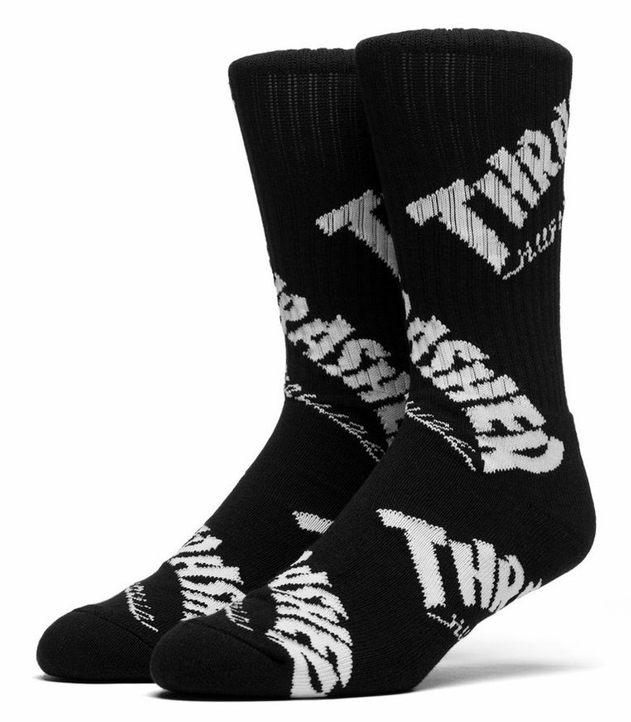 Huf x Thrasher TDS Crew Socks - Black