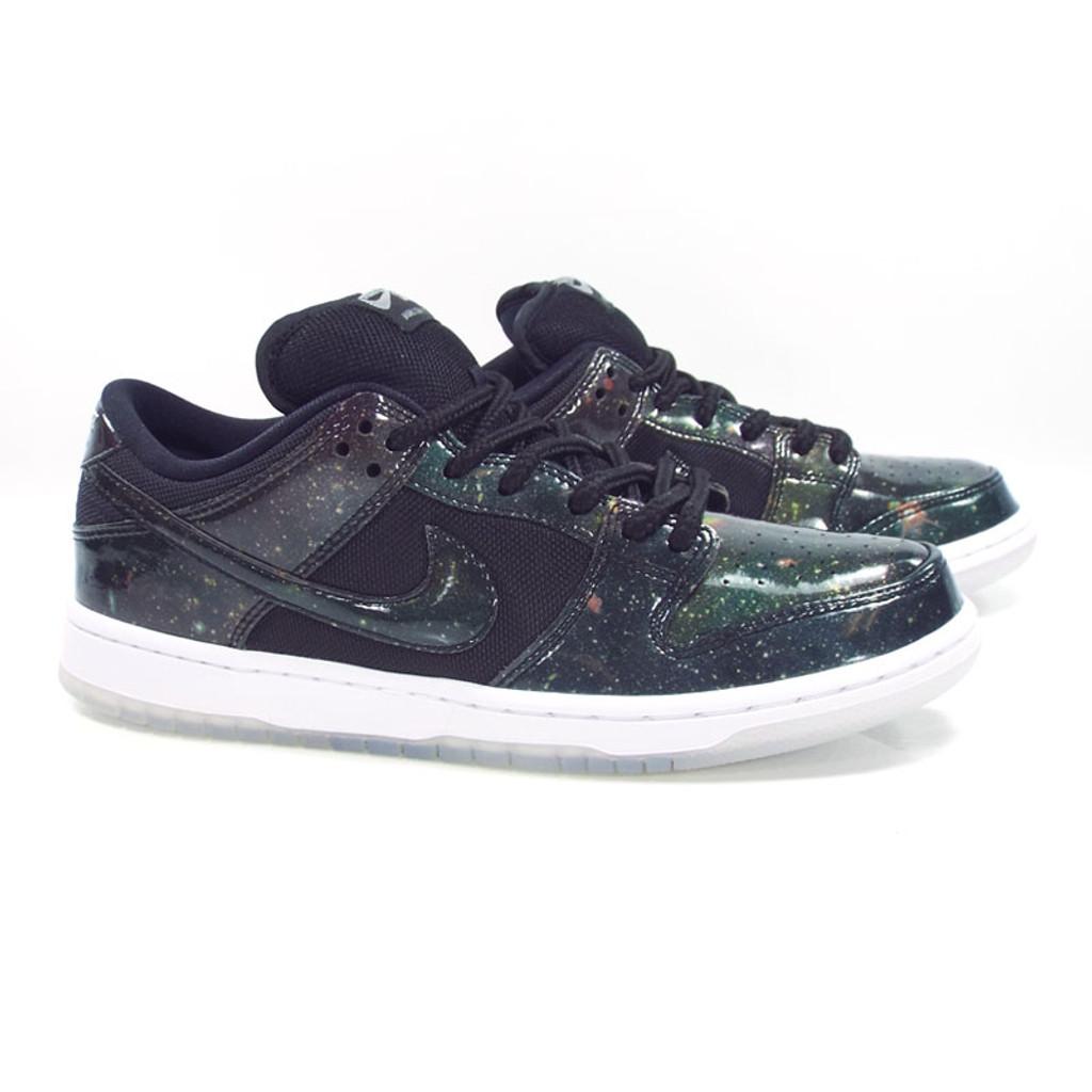 4223e6f637ce Nike SB Dunk Low Trd QS (4 20 Galaxy) Shoes - Black Black-White ...