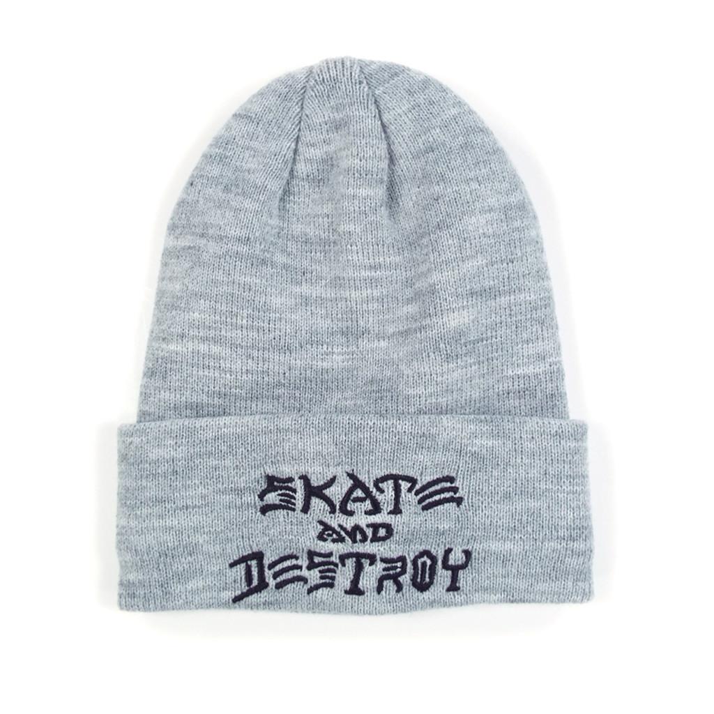 f0dee003d4a Thrasher Skate   Destroy Beanie - Grey - Detroit City Skateboards Co.