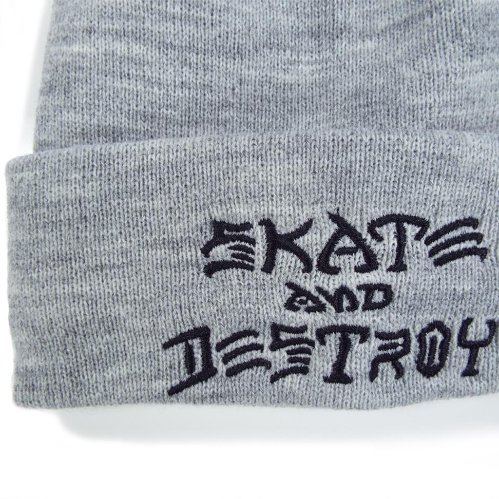 Thrasher Skate & Destroy Beanie - Grey