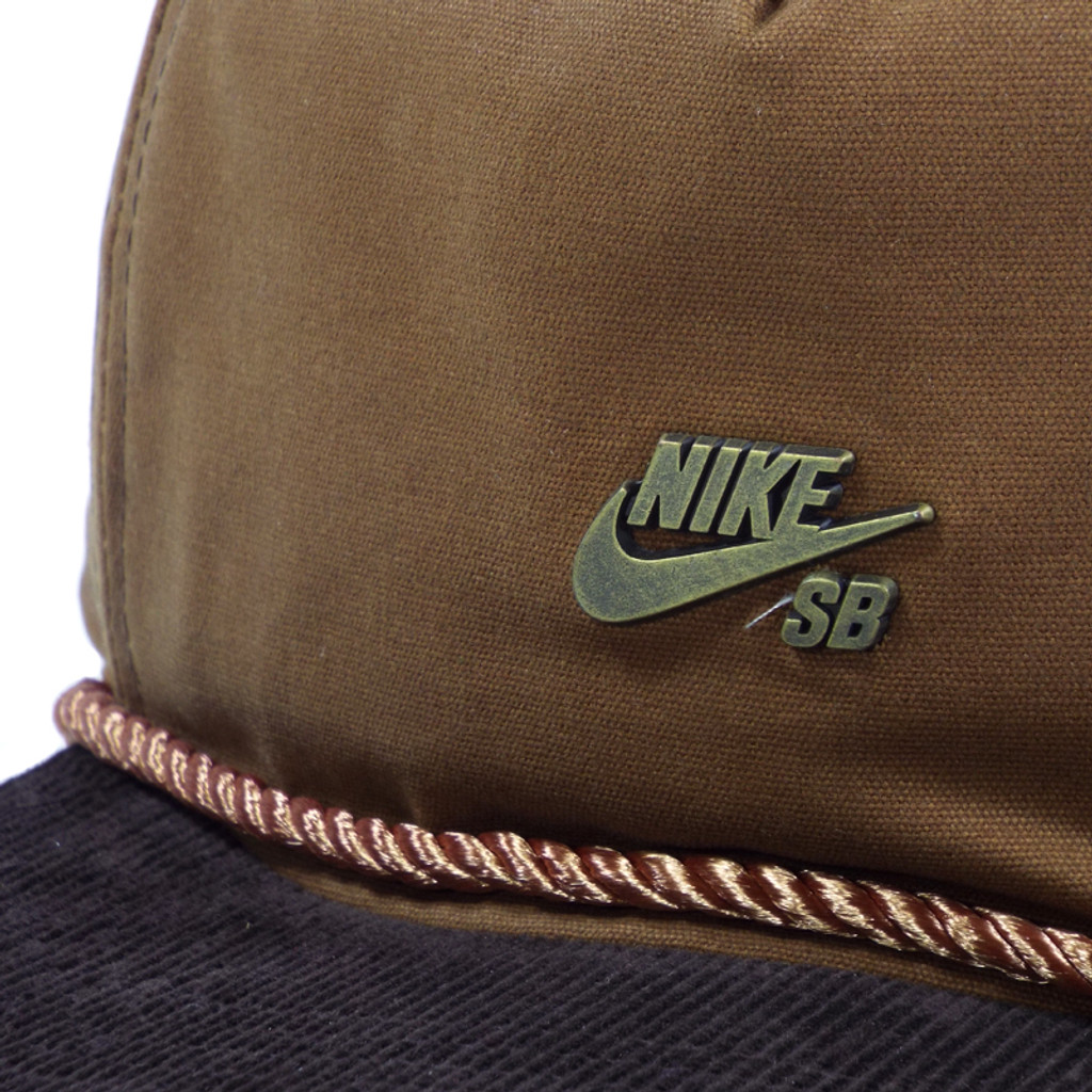 Nike Waxed Canvas Strapback Hat - Ale brown/Baroque Brown