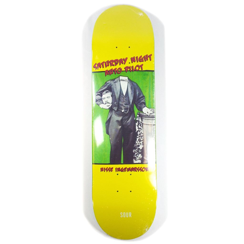 "Sour Nisse Saturday Skateboard Deck - 8.18"""