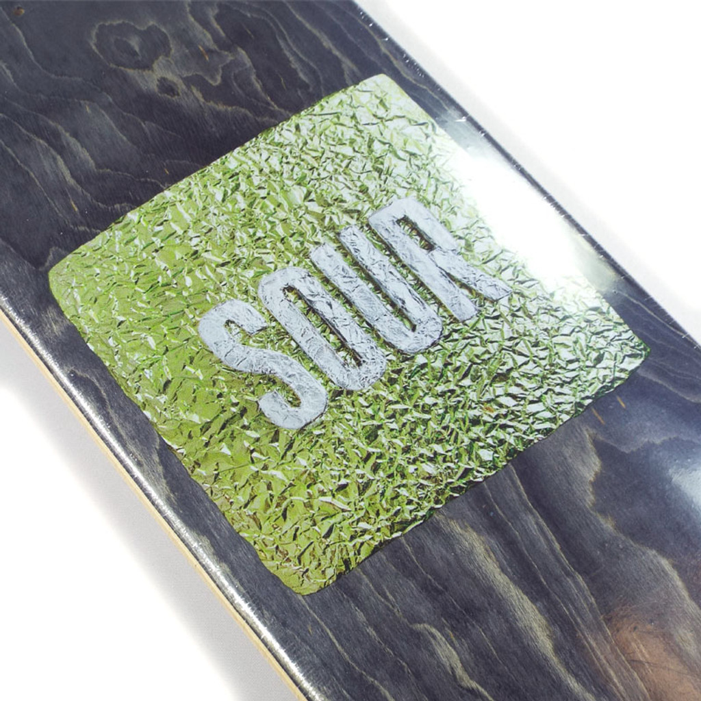 """Sour Foil Black Skateboard Deck - 7.75"""""""