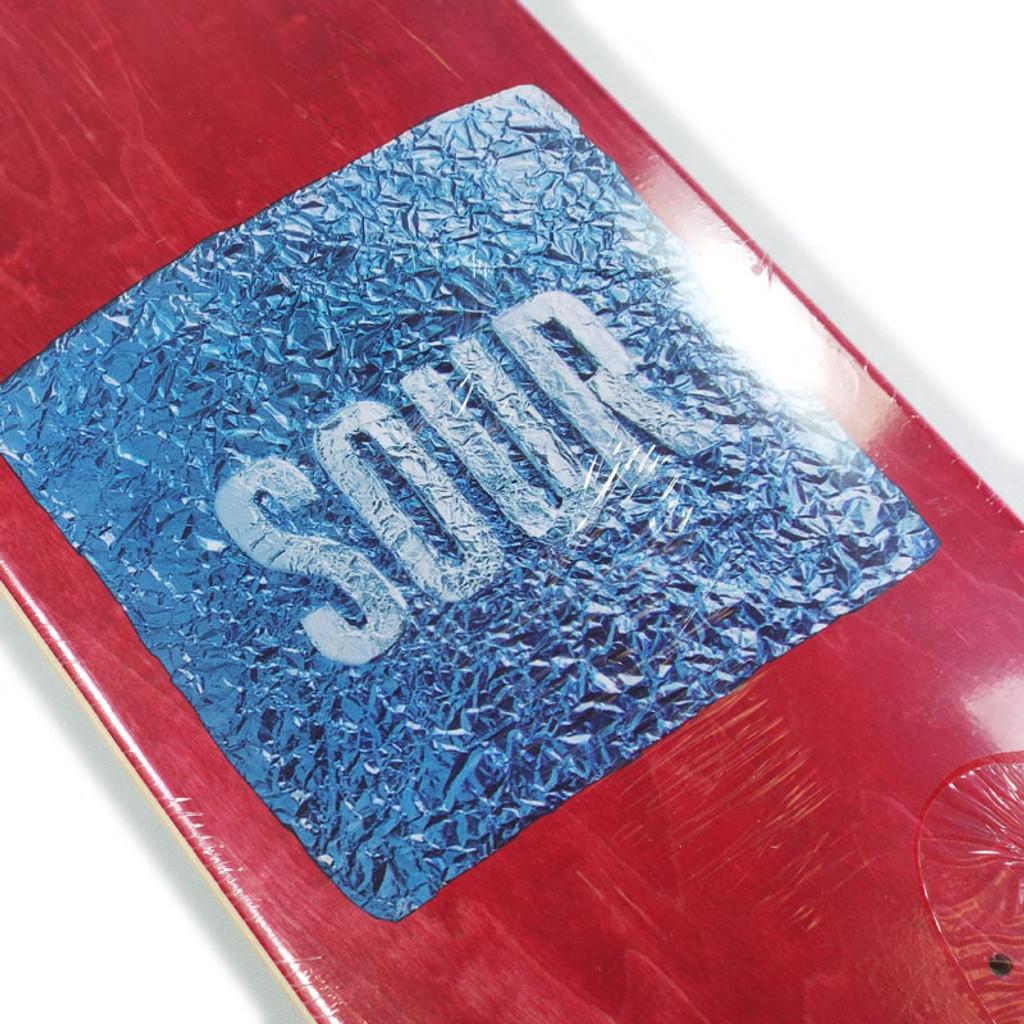 """Sour Foil Red Skateboard Deck - 8.12"""""""