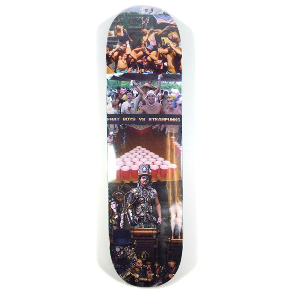 "Alltimers Frat Boys vs Steampunk Skateboard Deck - 8.25"""