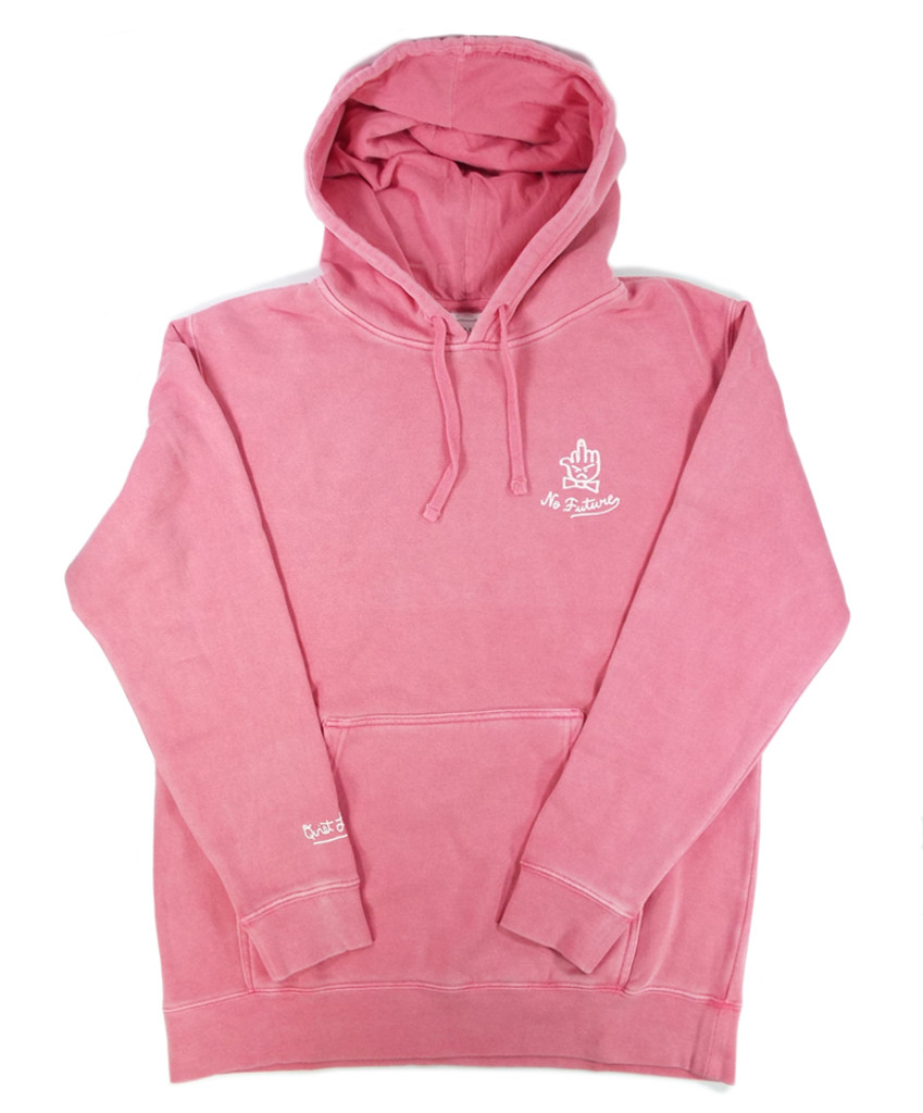 c888a3f563b7 The Quiet Life No Future Pigment Dyed Hooded Sweatshirt - Pink ...