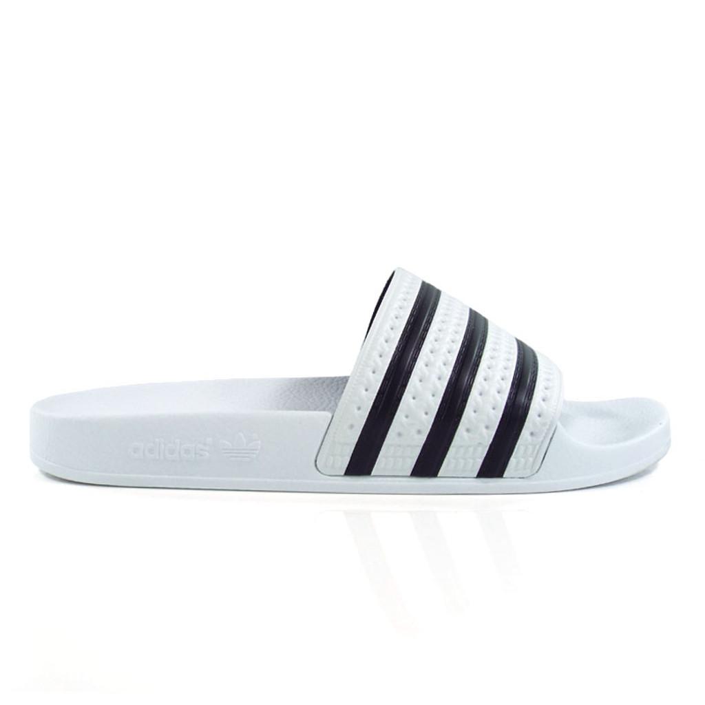 86b740a5688c Adidas Originals Adilette Slides - White Black - Detroit City ...